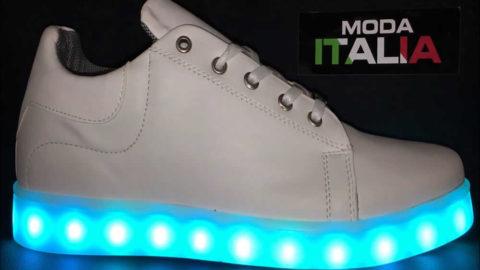 La technologie LED à l'intérieur des chaussures